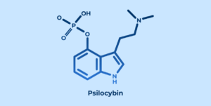 visualizes chemical structure of psilocybin