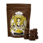 visualizes packaging for magic mushroom chocolate by Alice