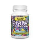 visualizes packaging for Essential Microdose by Limitless Mushrooms