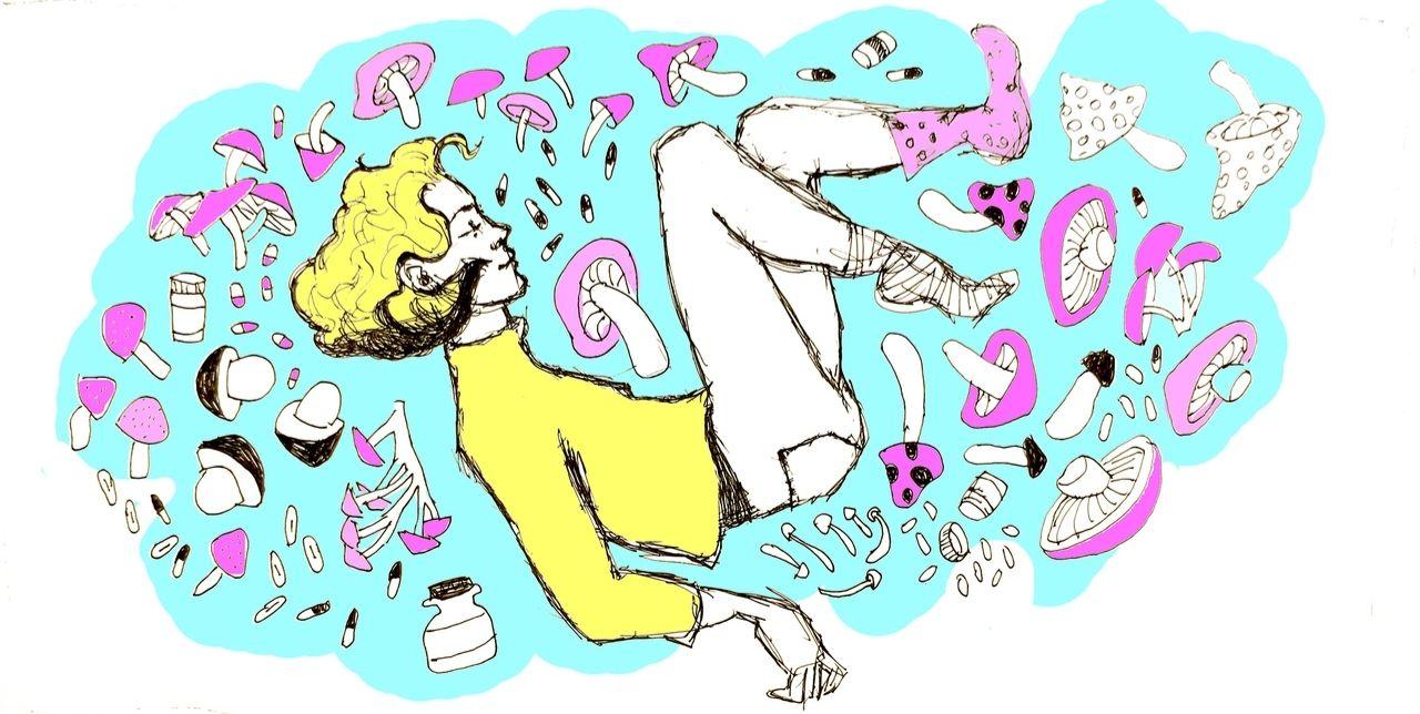 analogizes a state of enjoying psychedelic mushroom benefits